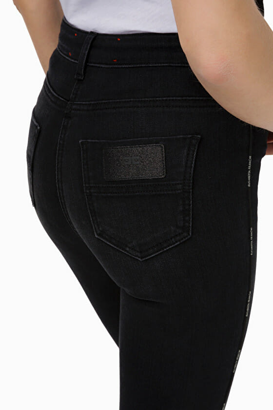 Czarne jeansy skinny Elisabetta Franchi4