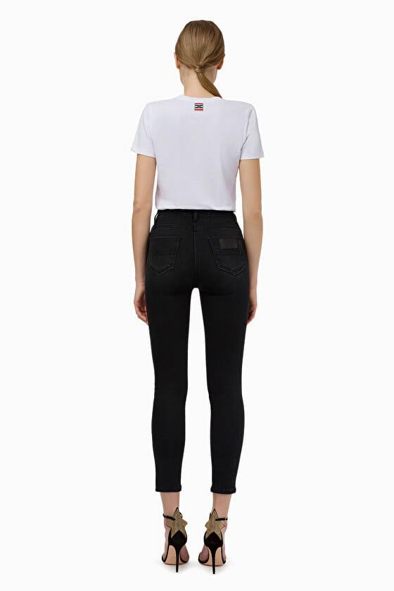 Czarne jeansy skinny Elisabetta Franchi5
