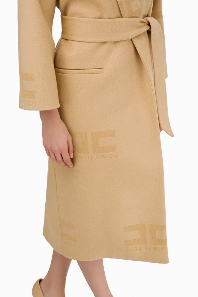 Płaszcz wełniany Elisabetta Franchi4