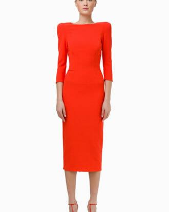 Pomarańczowa sukienka Elisabetta Franchi 2
