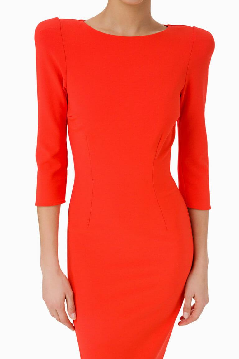 Pomarańczowa sukienka Elisabetta Franchi 3