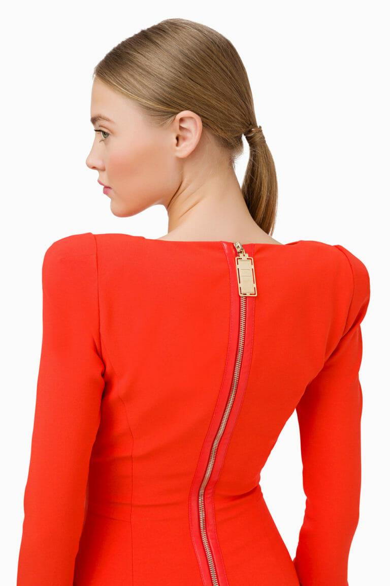Pomarańczowa sukienka Elisabetta Franchi 4
