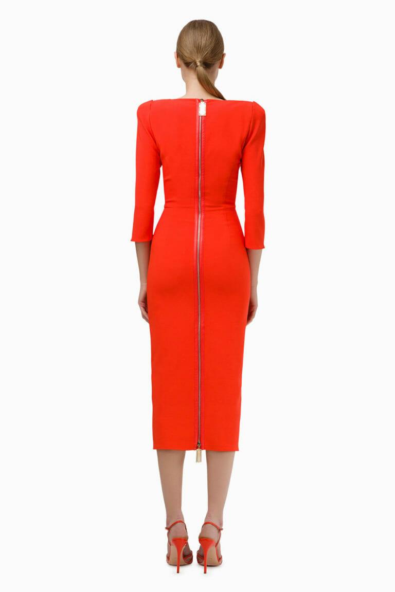 Pomarańczowa sukienka Elisabetta Franchi 6