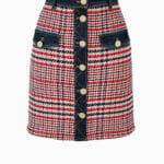 Spódnica mini z jeansem - Elisabetta Franchi