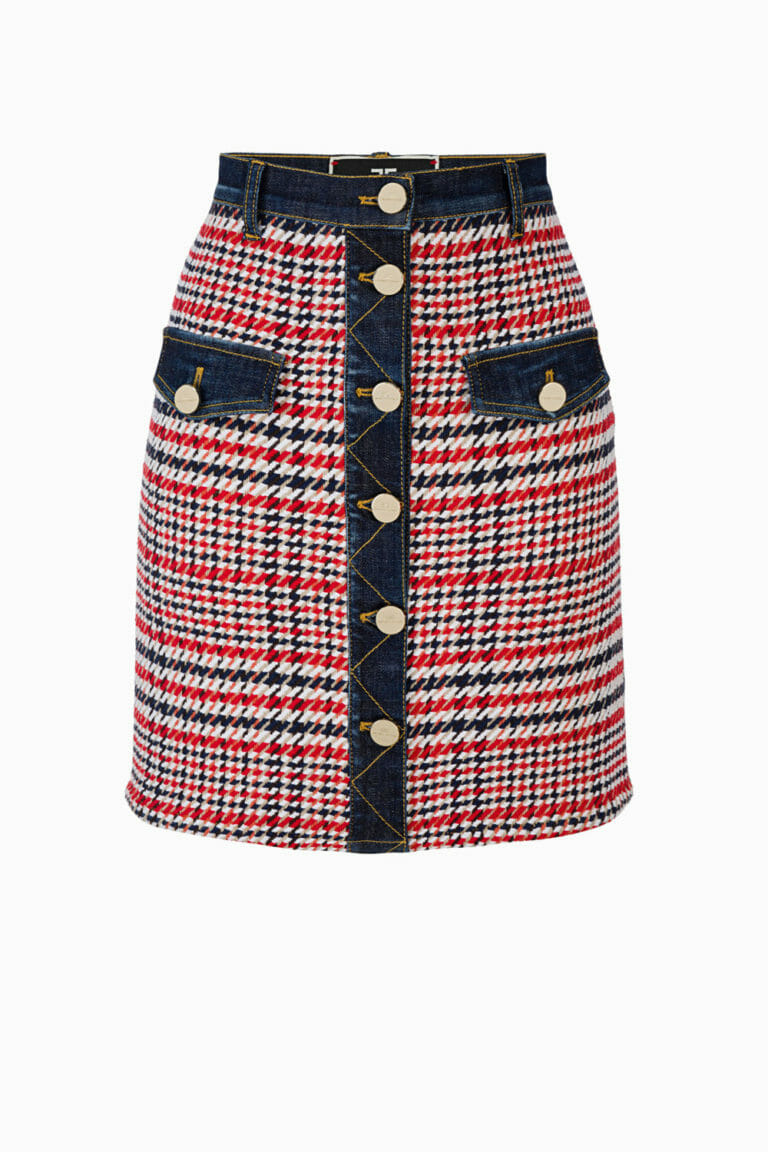 Spódnica mini z jeansem Elisabetta Franchi1