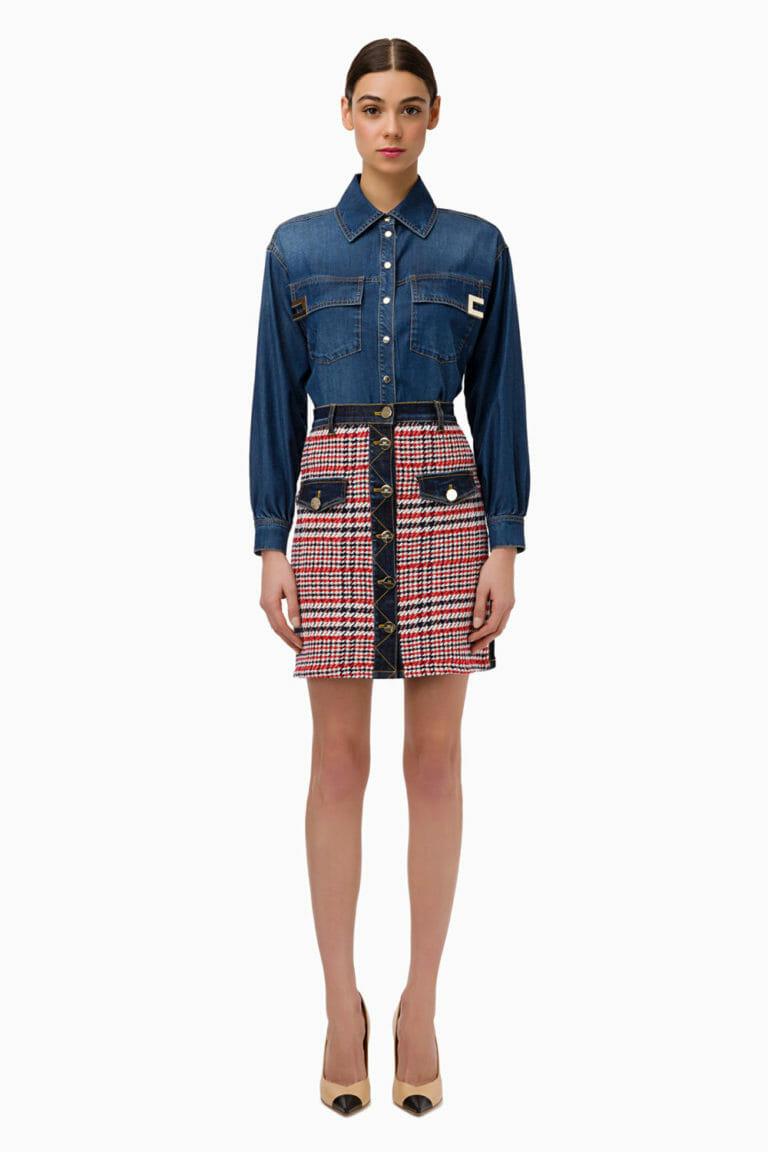 Spódnica mini z jeansem Elisabetta Franchi3