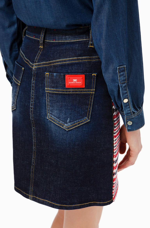 Spódnica mini z jeansem Elisabetta Franchi4