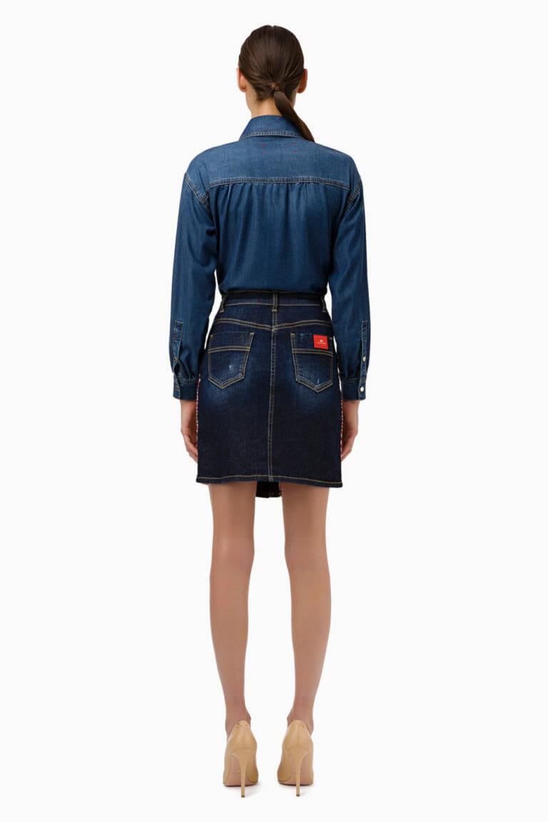 Spódnica mini z jeansem Elisabetta Franchi5