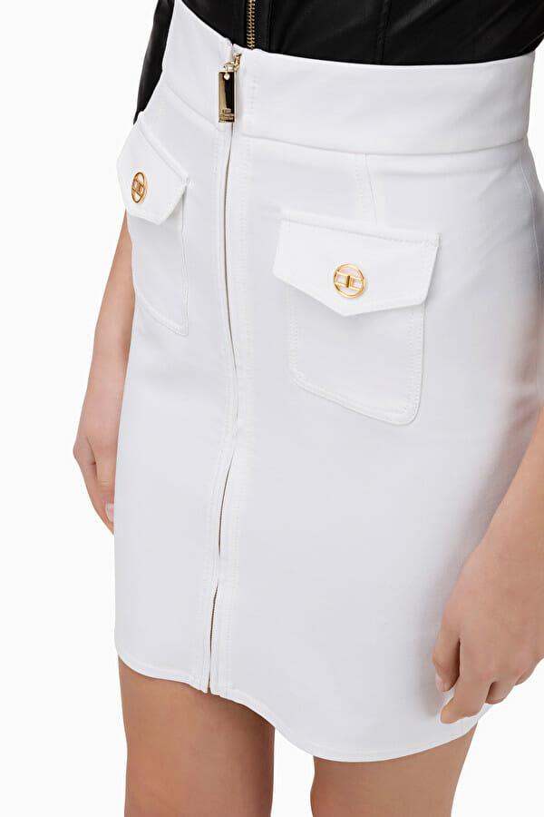 Spódnica mini z zamkiem Elisabetta Franchi5