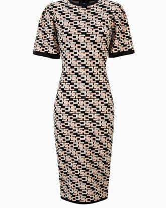 Sukienka dzianinowa w logo Elisabetta Franchi1