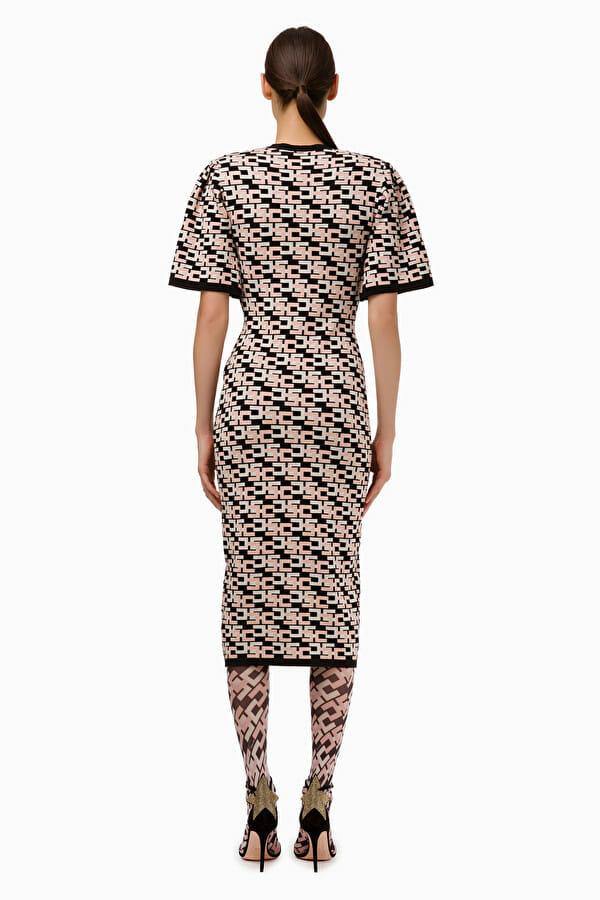 Sukienka dzianinowa w logo Elisabetta Franchi5