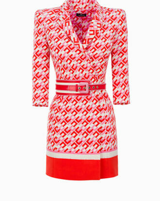 Sukienka mini w logo Elisabetta Franchi1