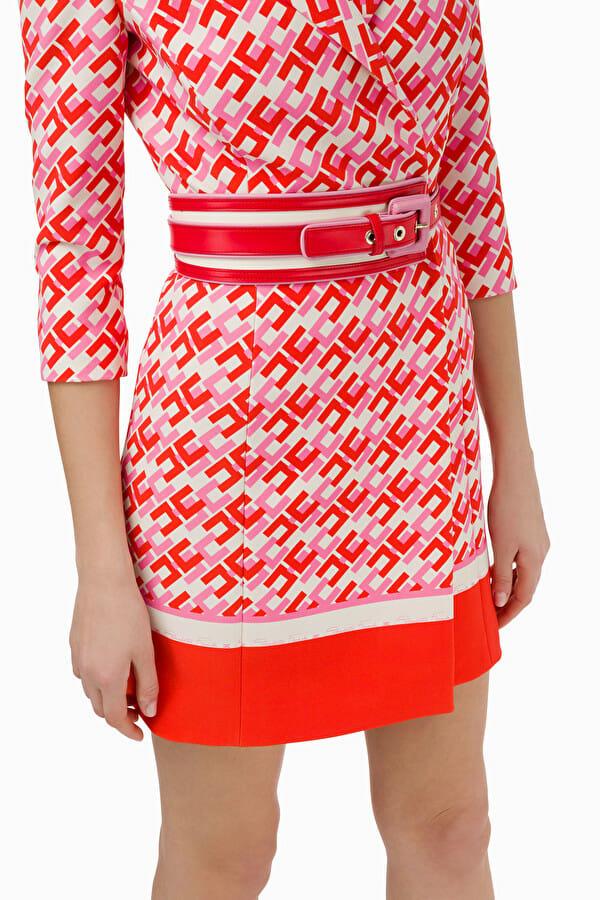 Sukienka mini w logo Elisabetta Franchi5