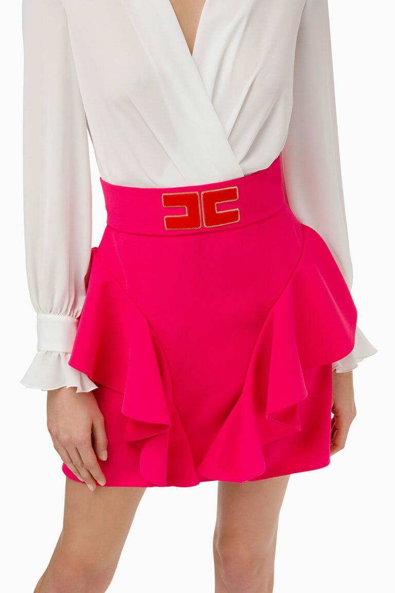 Sukienka z falbanami Elisabetta Franchi5