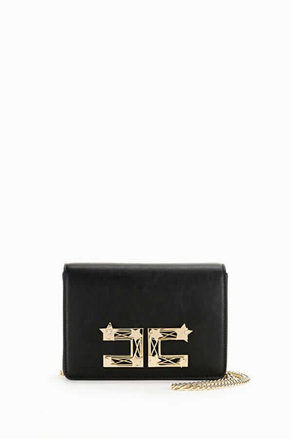 Torebka na ramię ze złotym logo Elisabetta Franchi1
