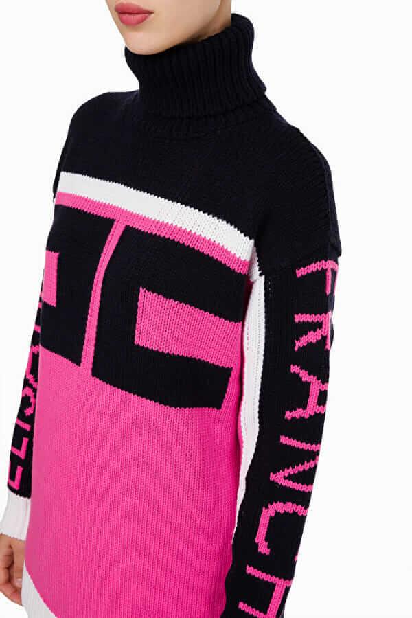 Dwukolorowy sweter z dużym logo Elisabetta Franchi2