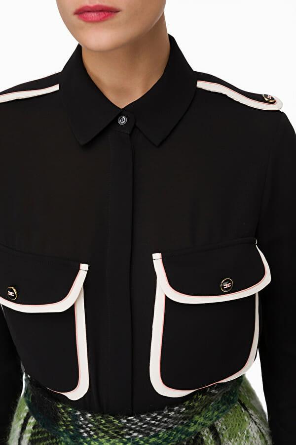 Koszula z kontrastowymi kieszeniami Elisabetta Franchi2