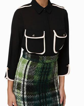 Koszula z kontrastowymi kieszeniami Elisabetta Franchi3