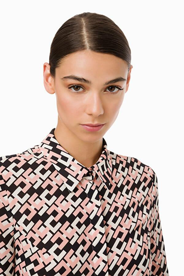 Koszula z printem w logo Elisabetta Franchi2