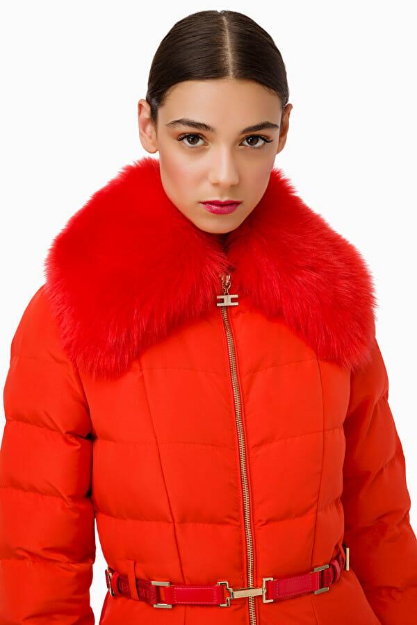 Płaszcz pikowany z pasem Elisabetta Franchi2
