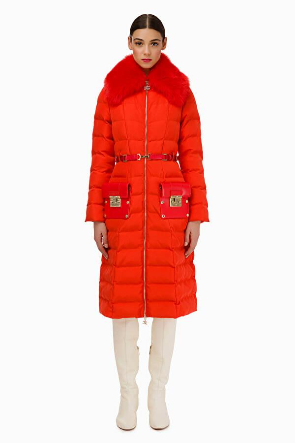 Płaszcz pikowany z pasem Elisabetta Franchi3