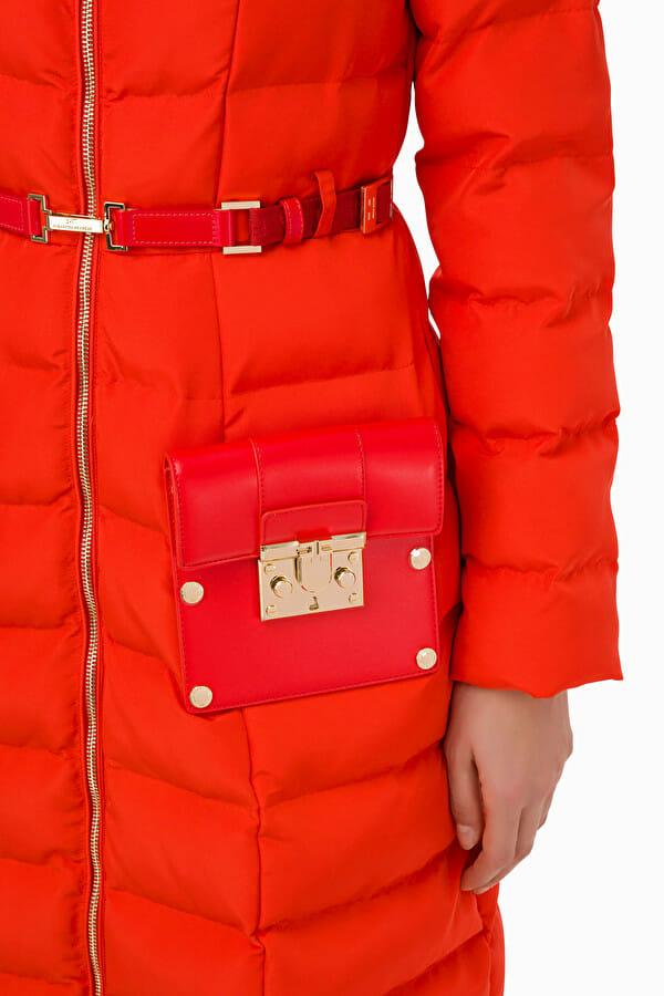 Płaszcz pikowany z pasem Elisabetta Franchi4