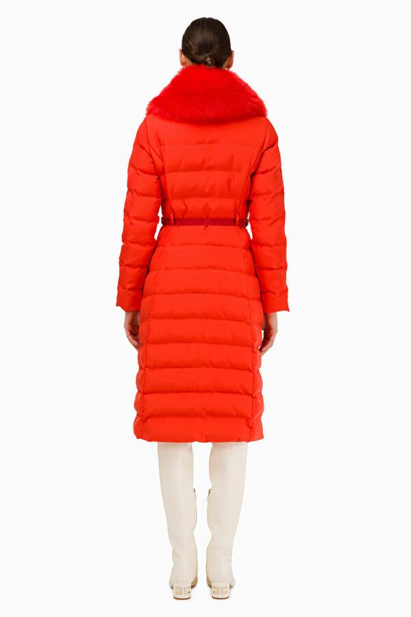 Płaszcz pikowany z pasem Elisabetta Franchi5