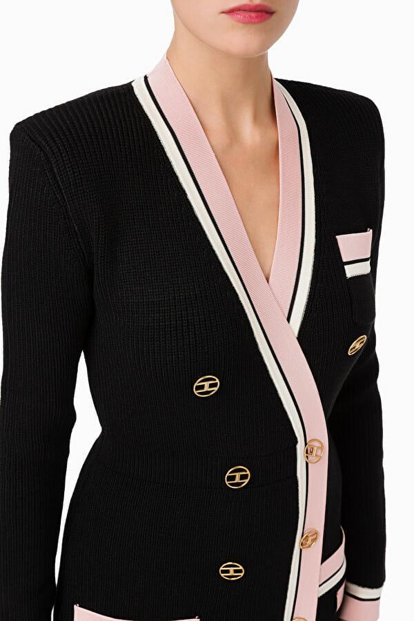 Sukienka dzianinowa dwurzędowa z guzikami 2 kolory Elisabetta Franchi6
