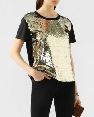 cekinowy t shirt zloto czarny 3