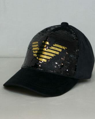 czapka emporio armani z cekinami 1