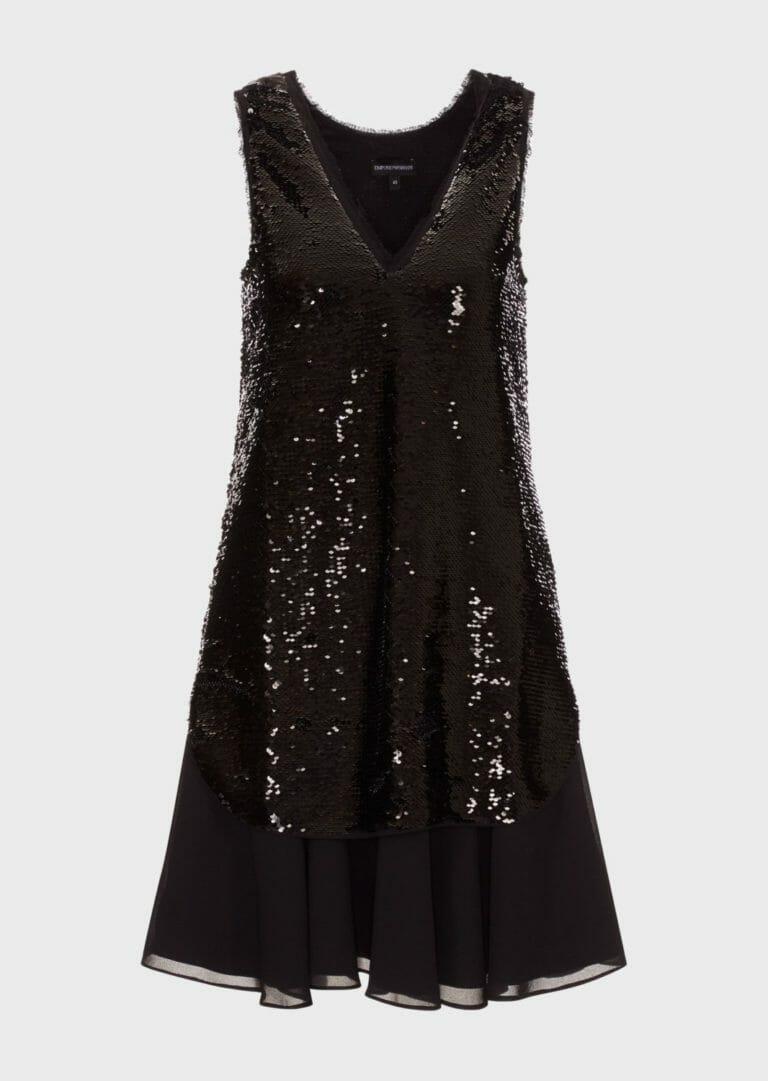 czarna cekinowa sukienka bez rekawow 5