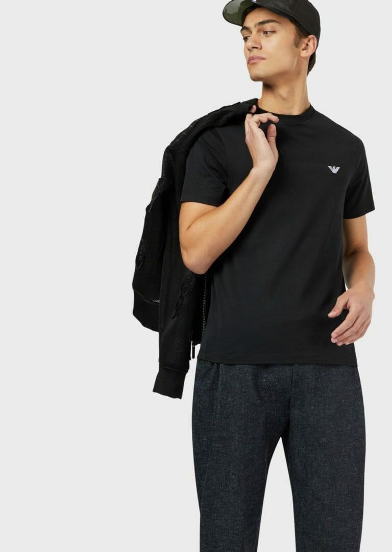 czarny meski t shirt emporio armani 2