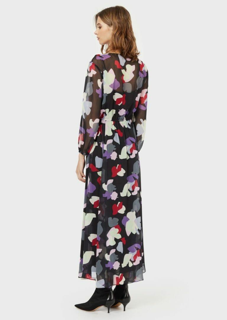 dluga sukienka emporio armani zwiewna letnia w kolorowe laty 1