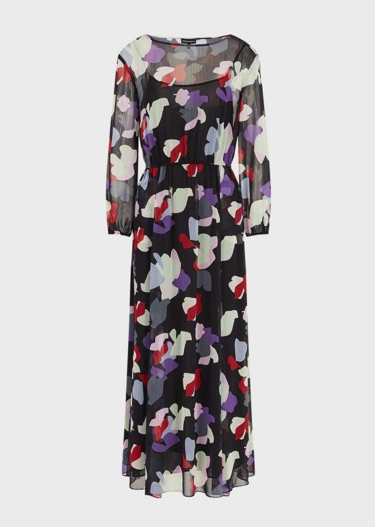 dluga sukienka emporio armani zwiewna letnia w kolorowe laty 3