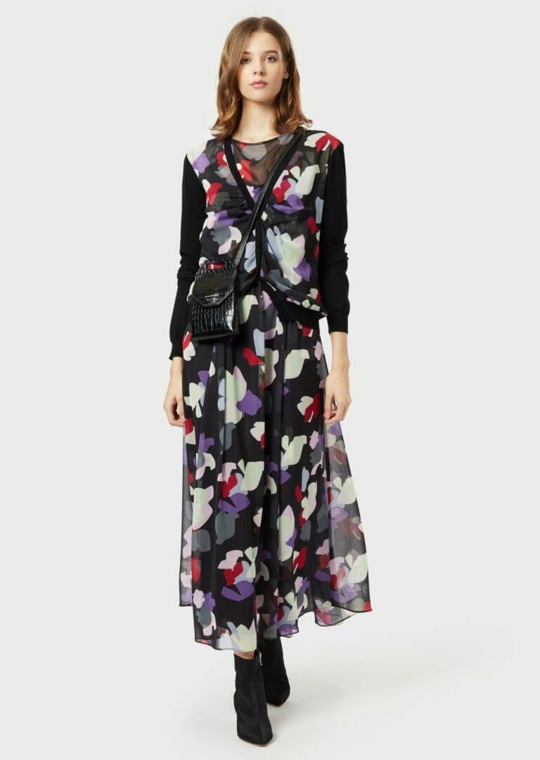 dluga sukienka emporio armani zwiewna letnia w kolorowe laty 4