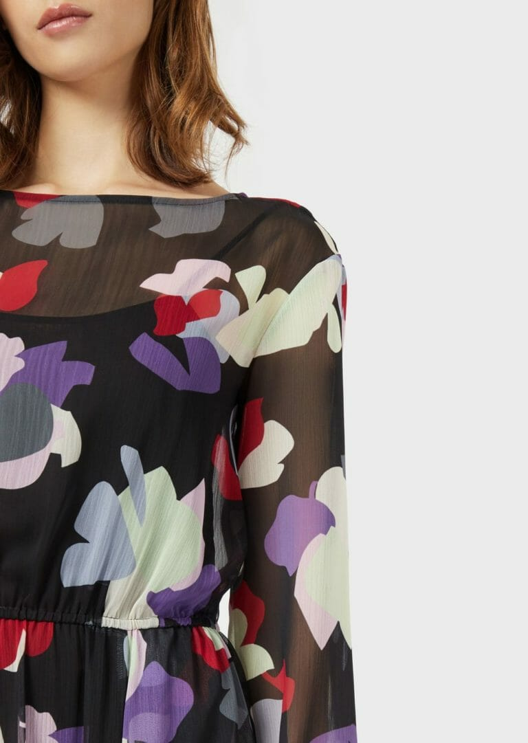 dluga sukienka emporio armani zwiewna letnia w kolorowe laty 8