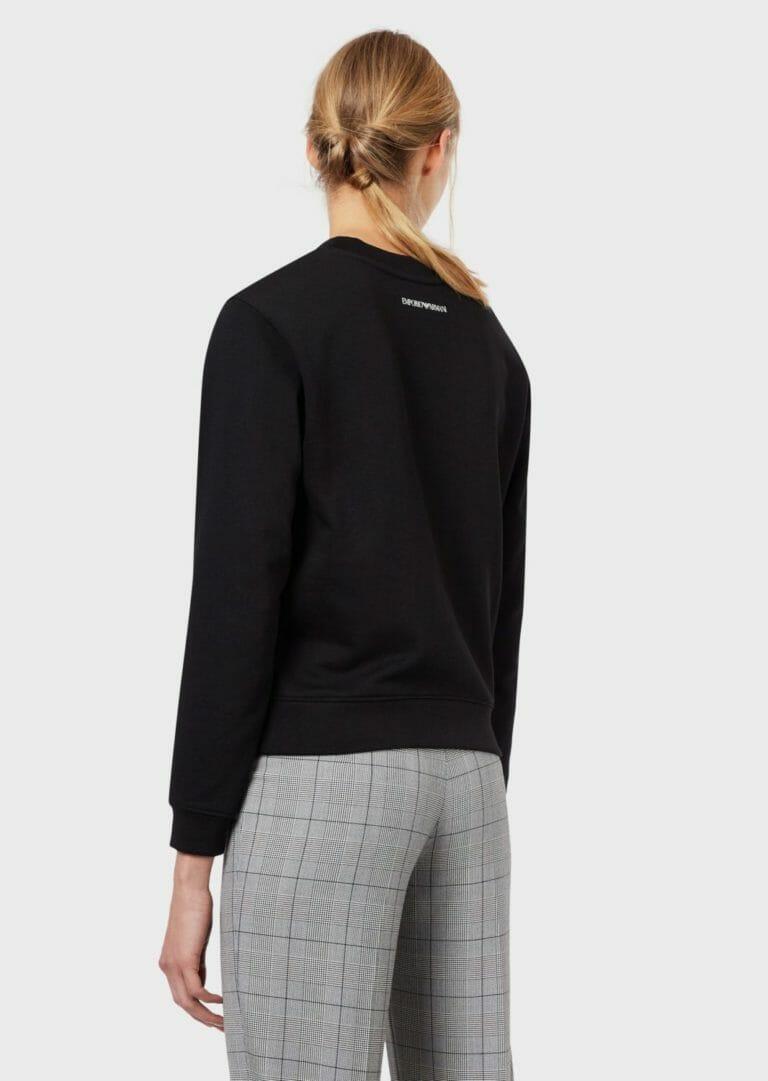 emporio armani bluza damska czarna z duzym logo 1