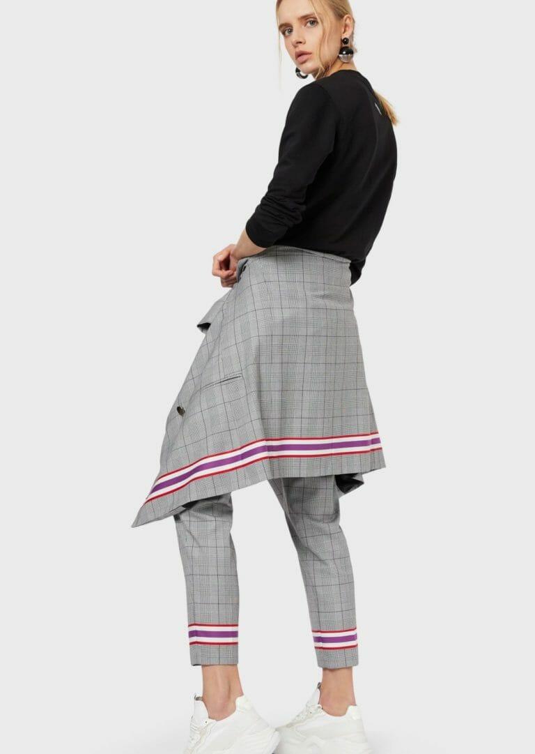 emporio armani bluza damska czarna z duzym logo 2