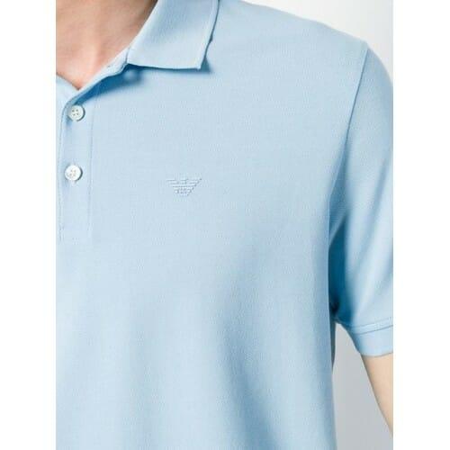 emporio armani classic polo shirt 0781 azzurro cotton 100 8n1f121j0sz 8938 500x500 0