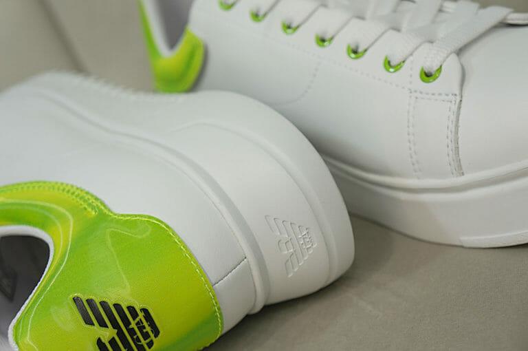 emporio armani meskie sneakersy bialo neonowe 1