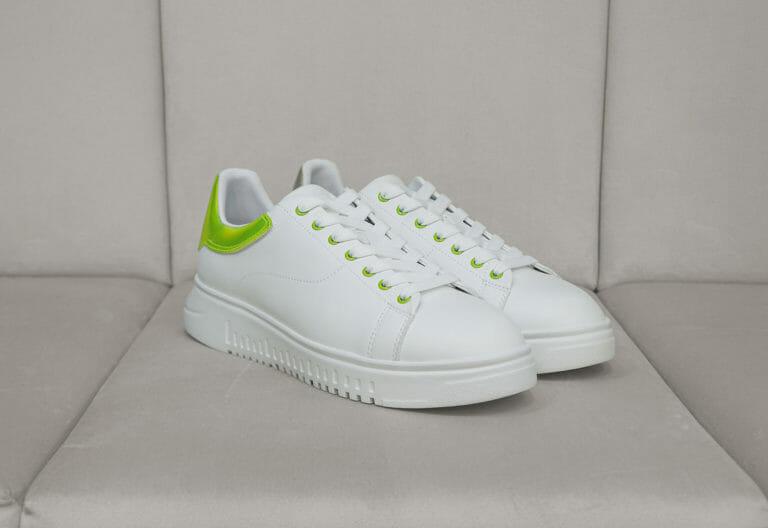 emporio armani meskie sneakersy bialo neonowe 2