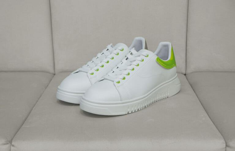 emporio armani meskie sneakersy bialo neonowe 3
