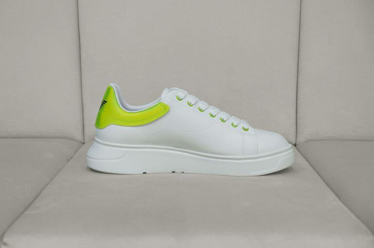 emporio armani meskie sneakersy bialo neonowe 5