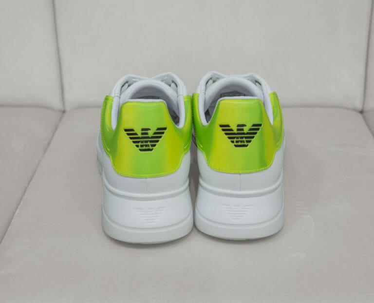 emporio armani meskie sneakersy bialo neonowe 6