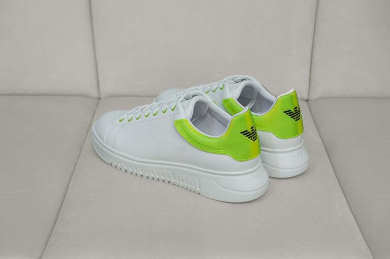 emporio armani meskie sneakersy bialo neonowe 7