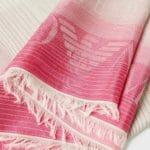 Różowo-szary szalik - Emporio Armani