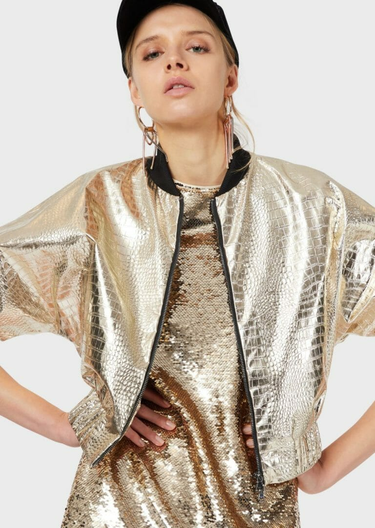 złota sukienka cekinowa emporio armani 2