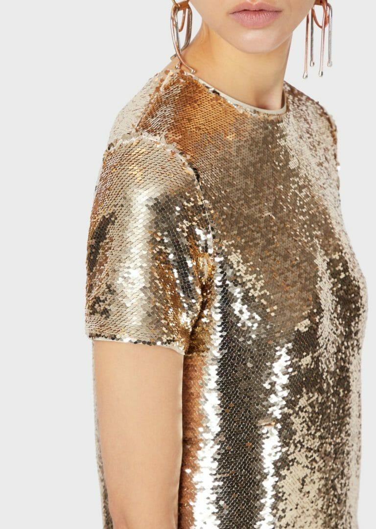 złota sukienka cekinowa emporio armani 3