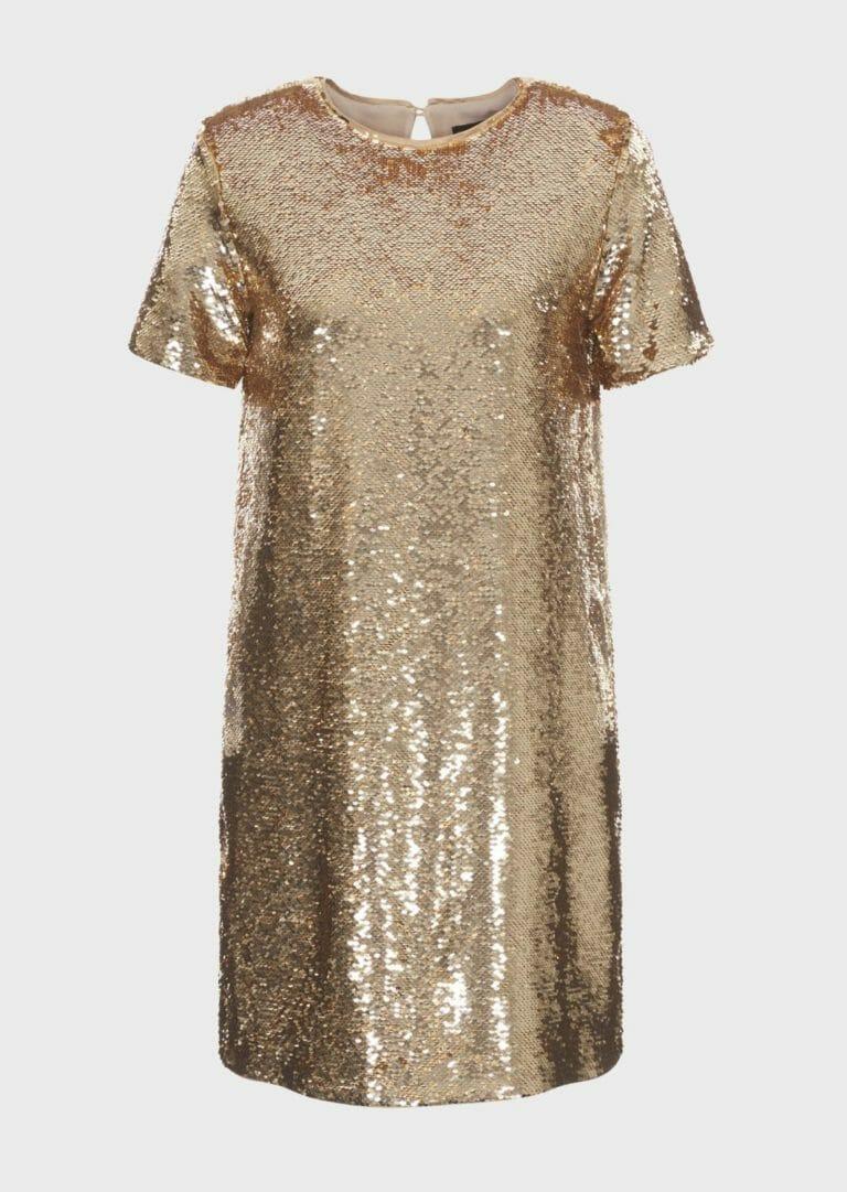 złota sukienka cekinowa emporio armani 4