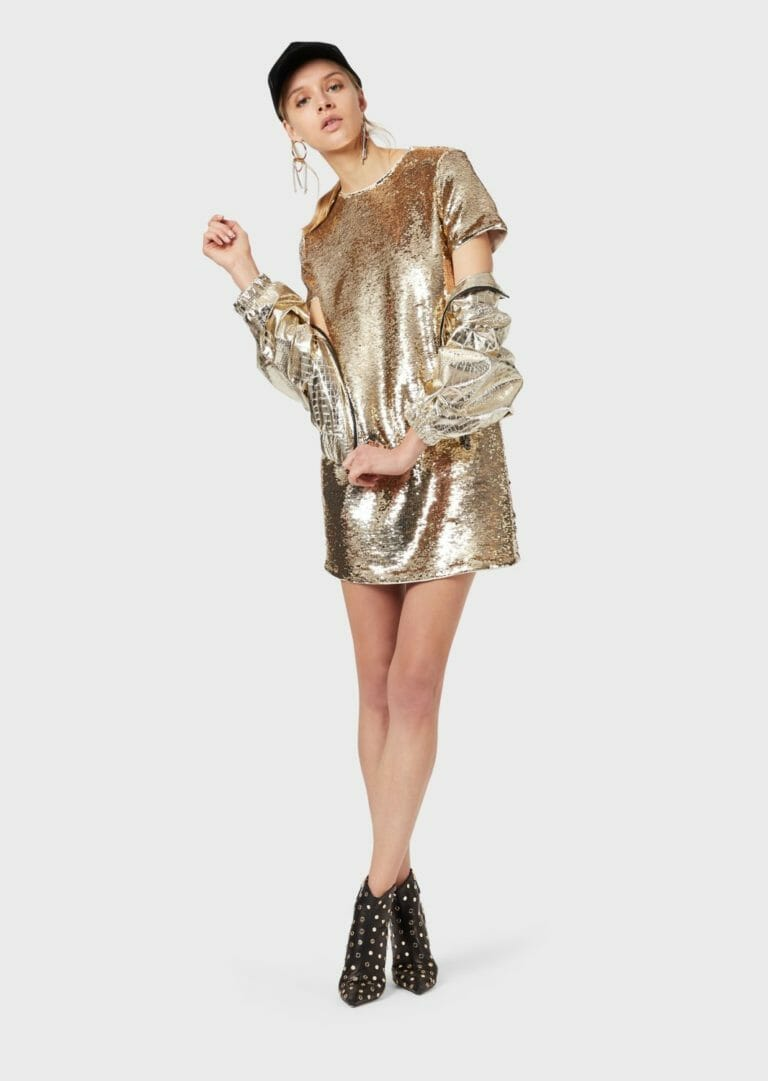 złota sukienka cekinowa emporio armani 5